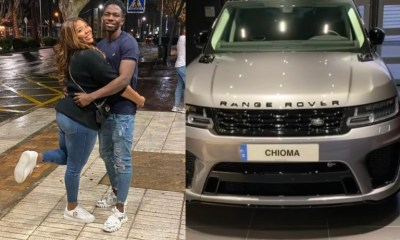 Omeruo gifts wife, Chioma Range Rover 1