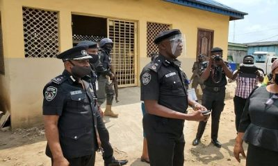 Police reinforce security around COVID-19 vaccines store in Lagos