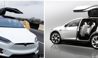 Multi million naira Tesla electric car spotted in Lagos, causes stir on social media
