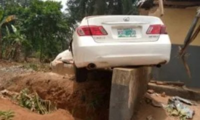 How Speeding driver killed himself and a female pedestrian in a lone accident-TopNaija.ng