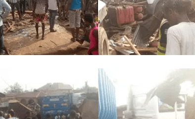 Tears as truck crushes shop owner to death in Abeokuta [PHOTOS]-TopNaija.ng