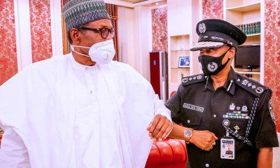 BREAKING: Buhari receives acting IGP Usman Baba