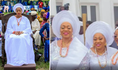 Prophetess Naomi receives prayers from Ooni of Ife's sisters on her birthday [PHOTOS]