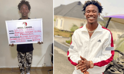 Popular comedian, Pankeeroy has been arrested by EFCC for alleged Internet Fraud