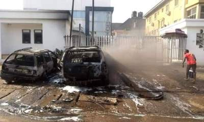 Unknown gunmen attack bank in Anambra, hoist Biafra flags-TopNaija.ng