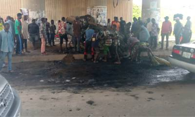 Angry mob burnt one chance robber to death in Abuja-TopNaija.ng