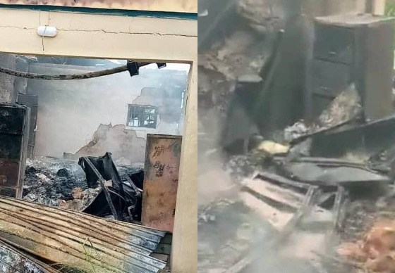 Again, INEC office set ablaze in Abia