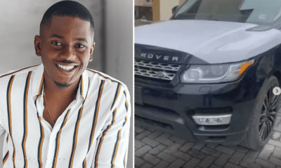Actor, Timini Egbuson shows off newly acquired Range Rover car