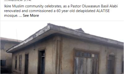 pastor renovates mosque