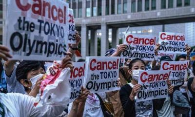 Protests in Tokyo as Olympics games commence