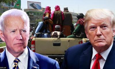 Joe Biden and Trump Afghanistan Taliban