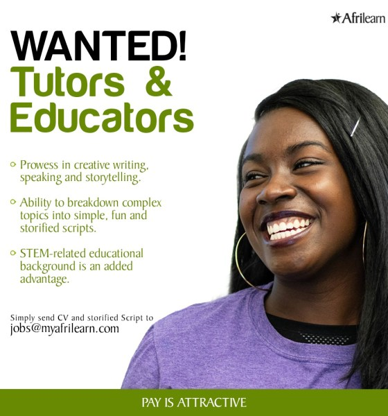 Job Opportunities Tutors Wanted at Afrilearn 2