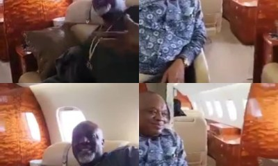 Controversial Nigerian Senator Dino Melaye over the weekend flew in a private jet with former Abia state governor cum Senator, Orji Uzor Kalu (OUK).
