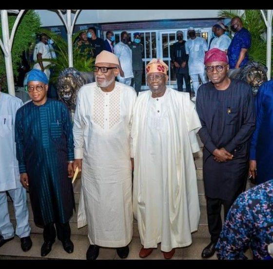 Southwest governors with APC, Asiwaju Bola Tinubu