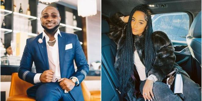 Davido in loved up photos with Instagram model Mya Yafai