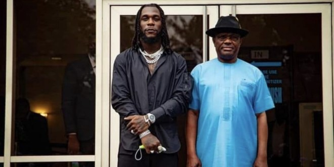 Governor Wike gifts Burna Boy a land and money to build; says he