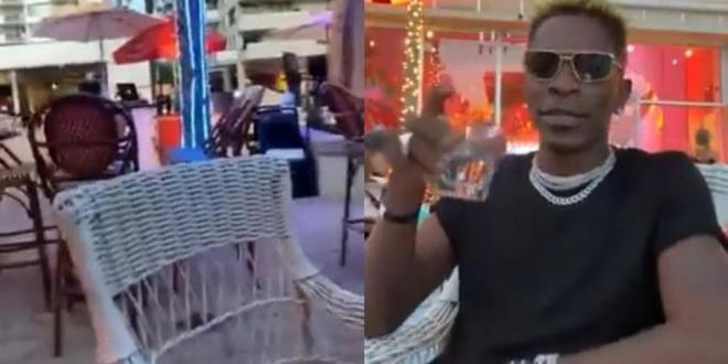 Why are they not playing 'Kpuu Kpa' here? - Shatta Wale asks in  Miami bar (WATCH)