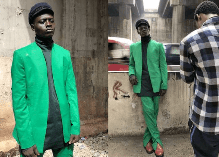 Homeless man sleeping under bridge in Lagos wows photographer after he modeled for them when the model hired was running late (photos/Video)
