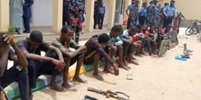 Police parade armed robbery suspects in Bauchi
