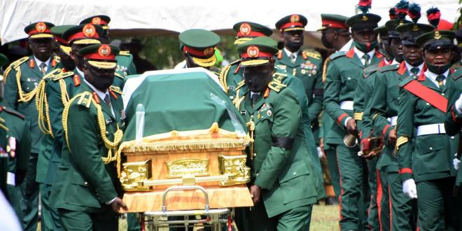 Gen. Attahiru, 10 other officers buried amidst tears in Abuja