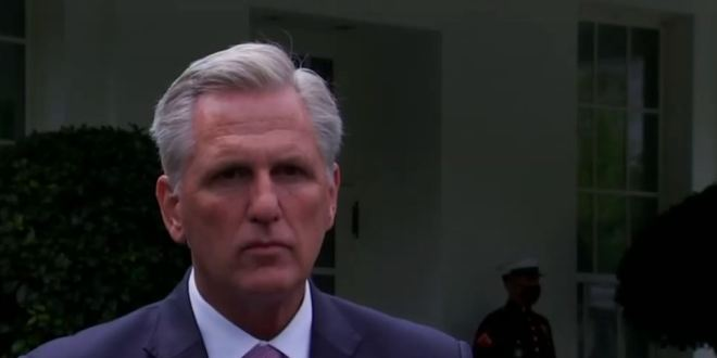Kevin McCarthy Just Tried To Blame Nancy Pelosi For Marjorie Taylor Greene's Holocaust Remarks
