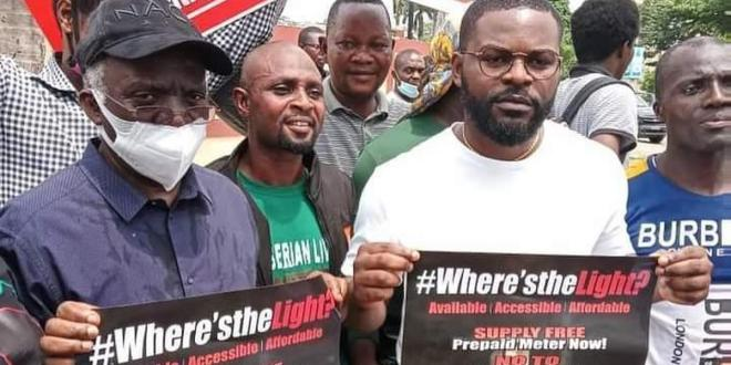 Rapper Falz joins dad Femi Falana, others to protest insecurity and poverty in Nigeria