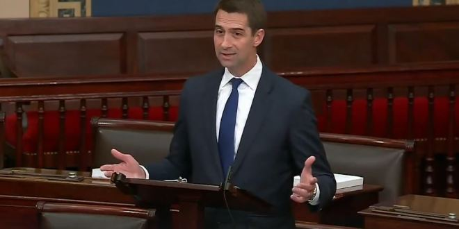 Tom Cotton Goes On A Conspiracy Bender And Claims The AP Colluded With Hamas To Get Blown Up