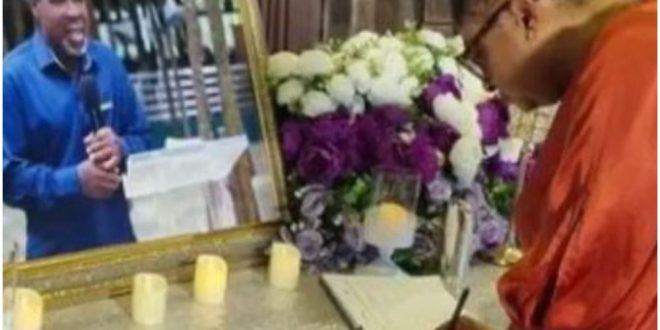 Actress Ronke Oshodi-Oke Visits Prophet T.B Joshua's Wife, Pays Last Respect