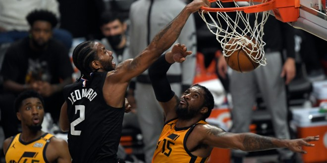 NBA Twitter reacts to Clippers' Kawhi Leonard viciously dunking on Jazz's Derrick Favors