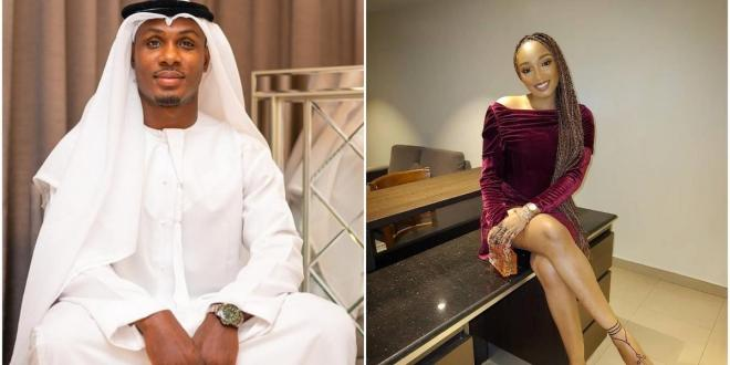 Odion Ighalo's estranged wife Sonia congratulates him on the arrival of his child from another woman