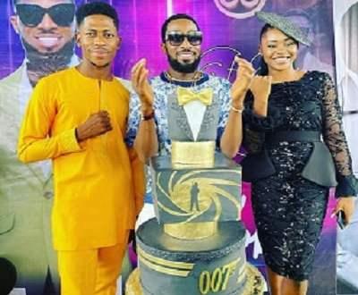 Tonto Dikeh sends 007 inspired cake to D'Banj for 41st birthday