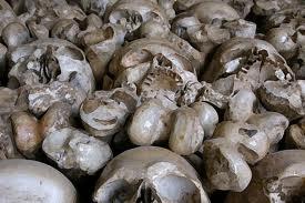 Skulls in Mass Grave,Sri Lanka.