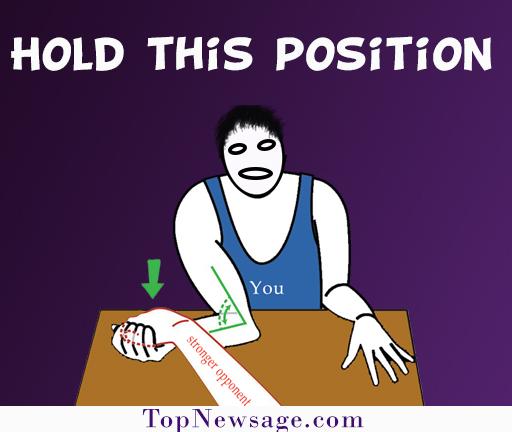 holding position arm wrestling