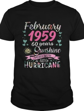 February 1959 60 years sunshine mixed with a little hurricane shirt