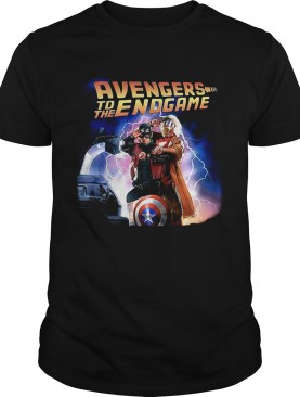 Captain America and Iron Man back to the future Avengers to the Endgame tshirt