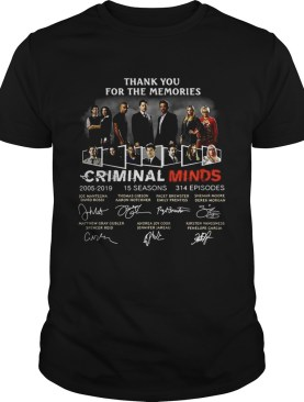 Thank you for the memories Criminal Minds 2005-2019 signature shirt