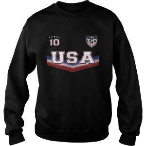 The United States womens national soccer team 10 Sweatshirt