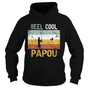 Reel Cool Papou Father Day Shirt Fishing Vintage 4th Of July TShirt Hoodie