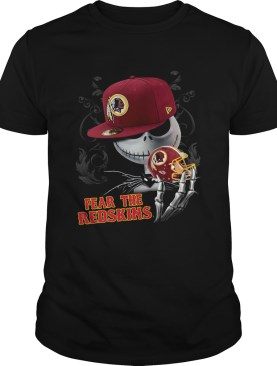Jack Skelington Fear The Redskins Shirt