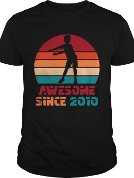 1572273644Vintage Retro Floss Dance 9th Birthday Gift For 9 Year Old T-Shirt
