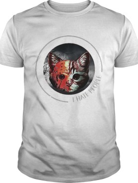 Jason Voorhees And Cat I Hate People shirt