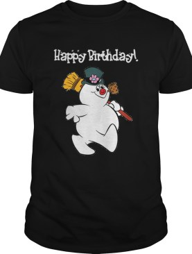 1573547520Frosty The Snowman Happy Birthday Christmas Graphic shirt