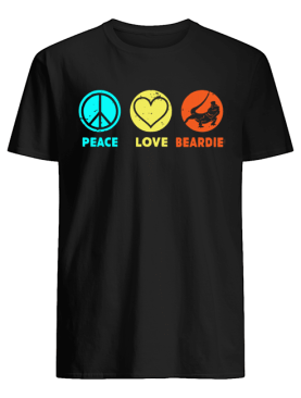 Peace Love Beardie shirt