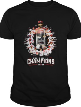 Washington Nationals Team 2019 World Series Champions Signatures shirt