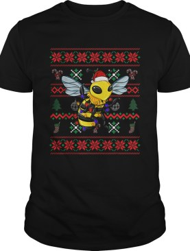 Bee Ugly Christmas Bee Santa Hat shirt