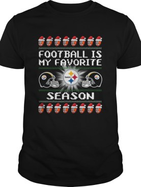 Merry Christmas Football Is My Favorite Season Pittsburgh Steeler shirt