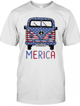 Freedom Merica American Flag Veteran Independence Day T-Shirt