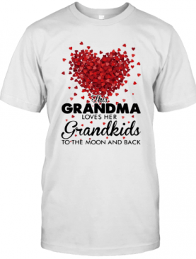 This Grandma Loves Her Grandkids To The Moon And Back Heart T-Shirt