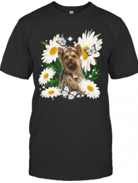 Yorkshire Terrier Dog Daisy Flower Classic T-Shirt