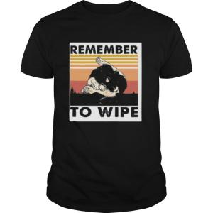 Cat remember to wipe vintage retro shirt